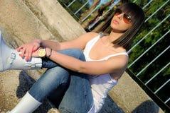 Adolescente con las gafas de sol Fotografía de archivo