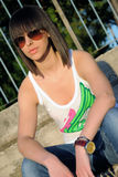 Adolescente con las gafas de sol Fotografía de archivo libre de regalías