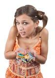 Adolescente con las horquillas Fotografía de archivo libre de regalías