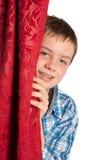 Adolescente con las paréntesis Imagen de archivo libre de regalías