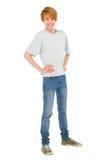 Adolescente con le mani sulle anche Fotografie Stock
