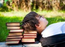 Adolescente con libros Fotografía de archivo
