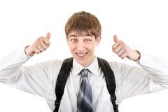 Adolescente con lo zaino Fotografia Stock