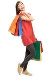 Adolescente con los bolsos de compras Fotos de archivo