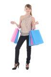 Adolescente con los bolsos de compras Fotos de archivo libres de regalías