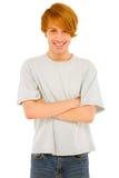 Adolescente con los brazos plegables Fotografía de archivo