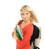 Adolescente con los cuadernos Imagen de archivo libre de regalías