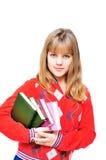 Adolescente con los libros Fotos de archivo libres de regalías