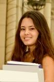 Adolescente con los libros Imágenes de archivo libres de regalías