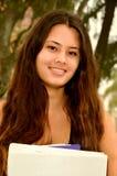Adolescente con los libros Imagen de archivo libre de regalías