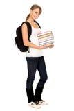 Adolescente con los libros imagenes de archivo