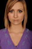 Adolescente con los ojos abiertos Imagen de archivo
