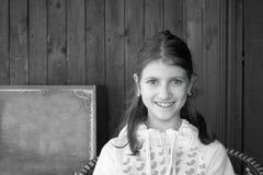 Adolescente con los ojos verdes Fotos de archivo libres de regalías