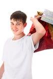 Adolescente con los panieres Imágenes de archivo libres de regalías