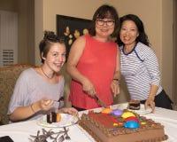 Adolescente con los parientes coreanos Fotografía de archivo libre de regalías