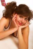 Adolescente con los ponytails Foto de archivo libre de regalías