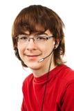 Adolescente con los vidrios Imagen de archivo