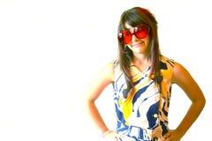 Adolescente con los vidrios rojos Fotografía de archivo libre de regalías