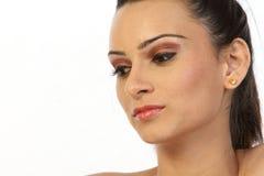 Adolescente con maquillaje agradable Imagen de archivo