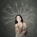 Adolescente con mente rameada Imagen de archivo