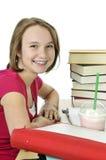 Adolescente con milkshake Fotos de archivo libres de regalías
