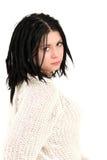 Adolescente con perforaciones de la cara Fotografía de archivo