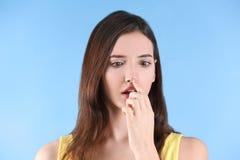 Adolescente con problema del acné Fotografía de archivo libre de regalías