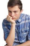 Adolescente con problemas del acné Foto de archivo libre de regalías