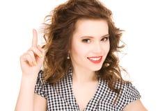 Adolescente con su dedo para arriba Imagen de archivo libre de regalías