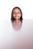 Adolescente con su reflexión IV de la cara Fotos de archivo libres de regalías