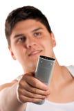 Adolescente con teledirigido Imagenes de archivo