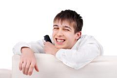 Adolescente con teledirigido Foto de archivo libre de regalías