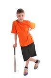 Adolescente con un bate de béisbol Foto de archivo libre de regalías
