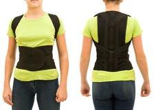 Adolescente con un corsetto medico Fotografie Stock