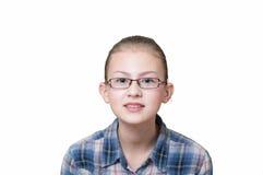 Adolescente con un'espressione divertente sul suo fronte Fotografia Stock Libera da Diritti