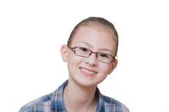 Adolescente con un'espressione divertente sul suo fronte Fotografie Stock