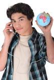 Adolescente con un globo Fotos de archivo