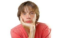 Adolescente con un pelo recto Imagen de archivo
