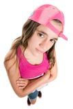 Adolescente con una actitud que lleva una gorra de béisbol Foto de archivo libre de regalías
