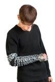 Adolescente con una cadena Imagenes de archivo