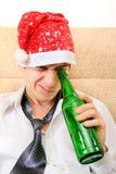 Adolescente con una cerveza Imágenes de archivo libres de regalías