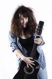 Adolescente con una guitarra Fotografía de archivo