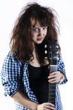 Adolescente con una guitarra Fotografía de archivo libre de regalías