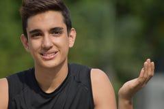 Adolescente confuso del muchacho Imagen de archivo libre de regalías