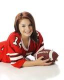 Adolescente consideravelmente Futebol-Loving Fotografia de Stock