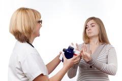 Adolescente contra las drogas Fotos de archivo libres de regalías