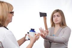 Adolescente contra las drogas Imagen de archivo libre de regalías