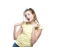 Adolescente coqueto de la muchacha Imagen de archivo