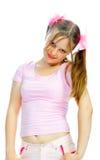 Adolescente cor-de-rosa Imagens de Stock Royalty Free