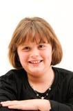 Adolescente corto hermoso que sonríe con el hoyuelo Imágenes de archivo libres de regalías